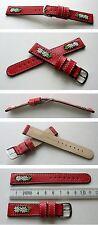 -Rotes Edelweißuhrband 18mm zum Beispiel für Michel Jordi und andere Trachtenuhr