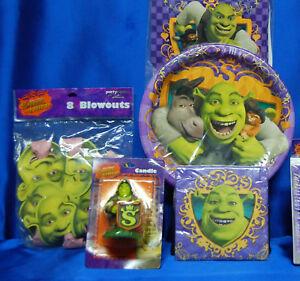 Shrek Party Set # 9  Napkin Plates Candle Centerpiece Invites Banner