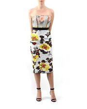 $2990 NWT Oscar De La Renta Floral Jacquard Strapless Dress 4