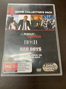 The Pursuit Of Happyness / Hitch / Bad Boys / Men In Black (2008, DVD)