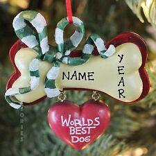 Worlds Best Dog Personalized Christmas Tree Ornaments Kurt Adler
