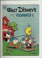 WALT DISNEY'S COMICS AND STORIES #121 1950 DELL GRANDMA DUCK BEGINS  VG+