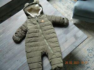 REDUZIERT Baby Schneeanzug Gr.56 grün warm gefüttert