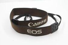 #3 Canon EOS Neck Shoulder strap 40mm wide black brown white print plastic clip