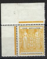 New Zealand 1955 Postal Fiscal Stamp one shilling and three pence UPRIGHT MNH.