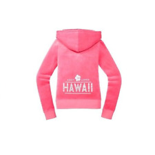 JUICY COUTURE DESTINATIONS HAWAII PASSION PINK VELOUR JACKET HOODIE L 12 14 £120