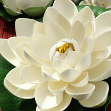 6Pcs Artificial Pond Floating Lotus Plant Water Lily Flower for Fish Tank Garden