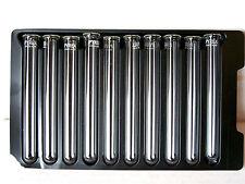 10 Vidrio Pyrex Borosilicato Con Montura 12mm X 100mm De Pared Pesada Tubos De Ensayo Nuevos
