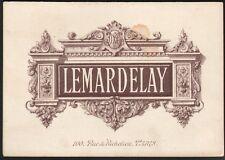 Menu. Paris - Restaurant Lemardelay. 28 mai 1886