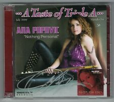 ana popovic 2cd  a taste of triple a   AUTOGRAPHED    m-m-