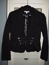 CAbi Women's 2 Black Military Jacket / Style#329/Cotton/Career-Business/Preowned