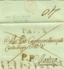 GG704-LOMBARDO VENETO, PREF., DA PAVIA A MANTOVA, FRANCA, P.P., 1821