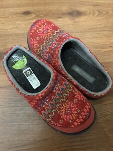 Smartwool Fitter Free Heel Brick Heather Slippers Size 6 NEW SX110-611