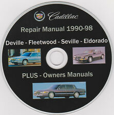 Cadillac - Deville,Fleetwood,Seville 1990-98 SERVICE MANUAL,PLUS Owners Manuals.