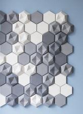 o 12 pcs. plastic molds *HONEY* for concrete veneer wall stone stackstone tile >