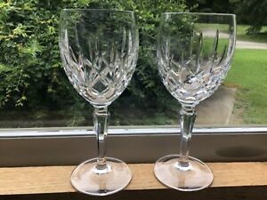 """Set of 2 Gorham Lady Anne Crystal Water Glass Stems 7 5/8"""""""