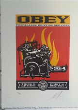 Shepard Fairey Print and Destroy letterpress print Signed numbered obey poster