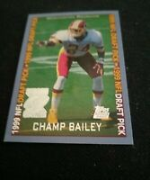 1999 Champ Bailey NFL Draft Pick Card #160 Mint  Washington Redskins