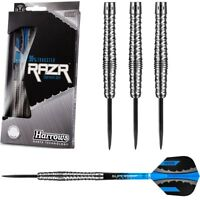 Harrows Razr 90% Tungsten Steel Tip Darts - Bulbous Barrel - Razor Shark Grip