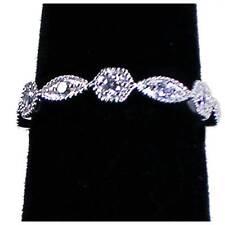 / Wedding Bands_Sz-9_925 Nf Silver Brilliant Antique Style Geometric Cz Eternity