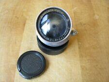 Leica 50mm Summar f/2 Lens in Leica Screw Mount  *Moody User* **Coated**
