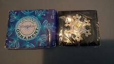 "GENUINE Silverplate Snowflake 2"" NEW! In Box Christmas Ornament"