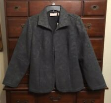 Chico's Outlet Charcoal Gray Swirls Jarrah Jacket Size 1 (8/10) NWT