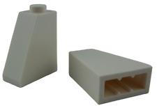 Lego 10 Pièce Tuiles en Béton Blanc 65 2x1x2 Bloc Incliné 60481 Neuf