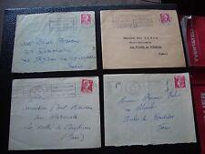 FRANCE - 4 enveloppes 1955/1956 (cy99) french