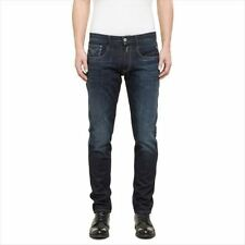 Replay Indigo, Dark wash Regular Size Jeans for Men
