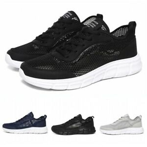 Casual Men Shoes Hollow Running Walking Sports Flats Breathable Tennis Athletics
