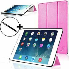 Pelle Rosa Smart Custodia Pieghevole Cover per Apple iPad Air e Stilo