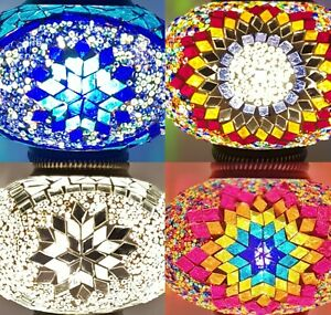 Handmade Turkish Moroccan Colourful Lamp Light GLASS 17CM SHADE REPLACEMENT ONLY