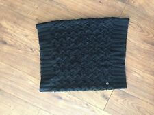 Roxy Black Knitted Scarf