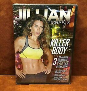 JILLIAN MICHAELS ~ KILLER BODY Video DVD ~ Buns & Thighs, Abs, Back & Arms ~ NEW