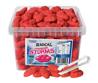 Radical Strawberry Storms 1.65kg Gluten Free 300 Clouds Bulk Lollies Candy Favor