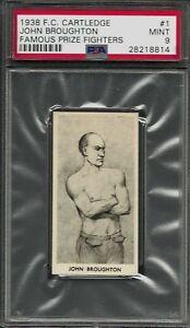 1938 F.C. CARTLEDGE #1 JOHN BROUGHTON PSA 9 MINT POP 5 (No 10'S) FAMOUS FIGHTERS