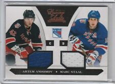 ARTEM ANISIMOV MARC STAAL DUAL 2C GAME USED JERSEY #/599 2010-11 LUXURY SUITE
