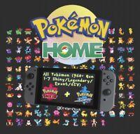 (Pokemon Home) 960+ Gen-1-7 Shiny/Legendary/Events/6IV for Pokemon Sword/Shield
