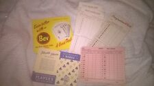 Collection of Un-used Vintage Advertising Whist Score cards and Sheets ( set B )