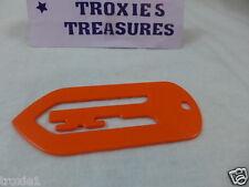 Tupperware Jumbo Paper Clip Book Mark Key Orange Gadget New