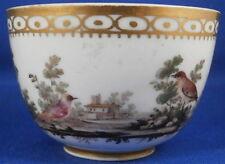 Rare 18thC Doccia Porcelain Bird Scene Scenic Trim Cup Porzellan Tasse Ginori