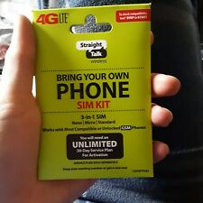 New Straight Talk Sim Card Gsm Phones *(At&T)* Network Activation Kit-Byop