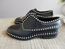 $695 NEW Alexander Wang leather WENDIE Oxford shoes with Ball chain Trim 35 US 5