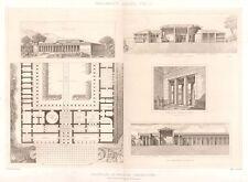 17 ~ MACDEDONIA PALACE DORIC IONIC ~ 1905 Greek Architecture Detail Art Print