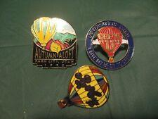 3- Mixed Park City & University of Utah Hot-Air Balloon Lapel Pin/Tie Tac Lot