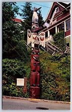 Kyan Totem Pole in Ketchikan, Alaska Saxman Park Chrome Postcard New