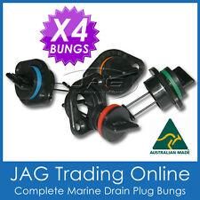 4 x COMPLETE DRAIN BUNG PLUGS MARINE/BOAT BUNGS STANDARD SIZE COARSE THREAD