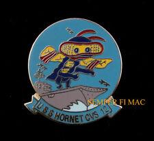 USS HORNET CVS-12 SEAL LOGO HAT PIN UP CV CVA USN APOLLO 11 NAS ALAMEDA CARRIER