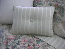 NEW Custom Ralph Lauren Winter Garden Stripe Accent Pillow 1 Button